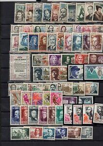 125-timbres-de-France-neufs-avec-bonnes-series