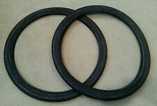 2 NEW DURO TWIN MARCH BICYCLE TIRES 26X2.00 (54-559) BLACK  45 PSI