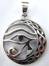 Argento Sterling (925) Occhio Di Horus Ciondolo (5.3 grammi) Nuova