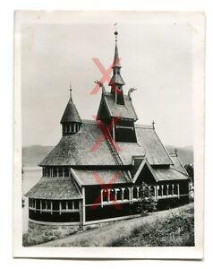 BALHOLM-Norwegen-Kirche-orig-Foto-Agfa-Lupex-1938-Kreuzer-Emden-Norway