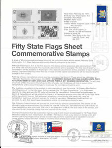1633-13c-Fifty-State-Flags-Postage-Stamp-Poster-Unofficial-Souv-Pg-Fd