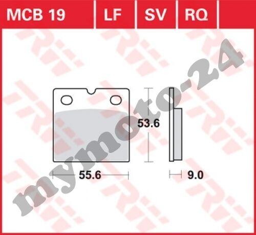 1988 TRW Lucas MCB19 Bremsbelag BMW K100//2 100 Bj
