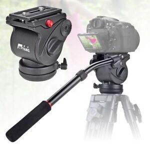 Pro-Video-Camera-Tripod-Action-Fluid-Drag-Head-Shooting-Filming-SLR-JY0506