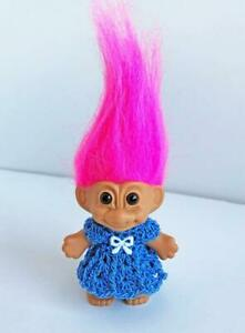 Clothes-for-3-034-Troll-Doll-Dress-Handmade-USA-Dollchris-Designs-Blue-Lot-T-10