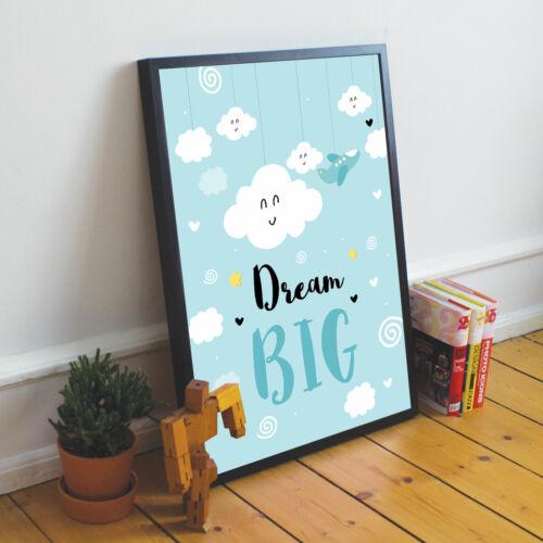 Baby Boys Girls Bedroom Decor Nursery Wall Prints Baby Blue Nursery Prints