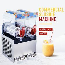2 X 4 Gal Commercial Frozen Drink Machine Slushie And Margarita Maker Pc Tanks