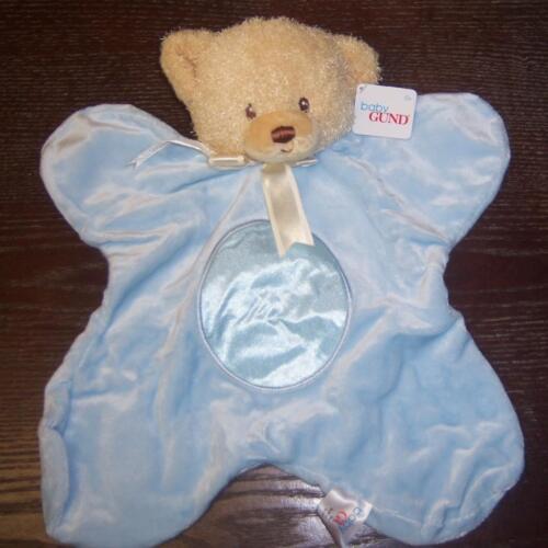 "NEW BLUE GUND 13/"" TEDDI BEAR SATINEESNUGS BABY SHOWER"