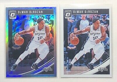 2018-19 Donruss Optic Holo #13 DeMar DeRozan San Antonio Spurs Basketball Card