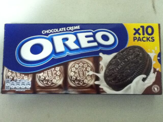 220gram PACK OF OREO CHOCOLATE CREME BISCUITS, 10 PACKS OF 2 BISCUITS