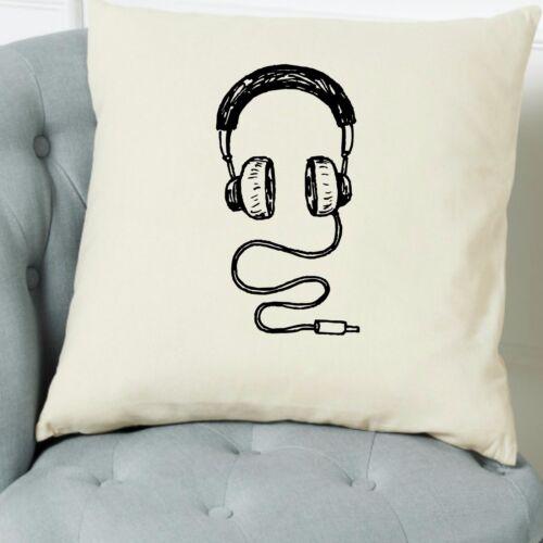 Headphones Cushion Cover Music Home Pillow Christmas Gift