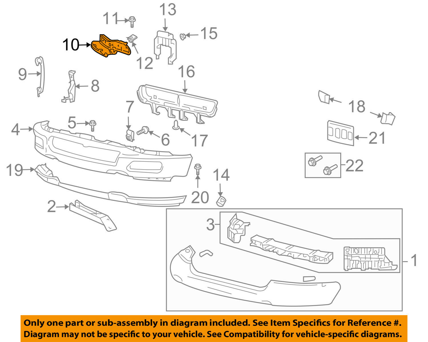 FORD OEM Front Bumper-Support Bracket Right 4L3Z17752AA