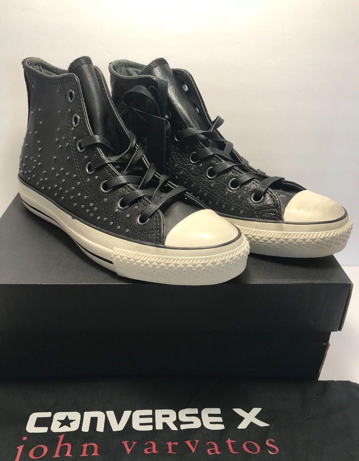 250 Converse Mens Size 12 John Varvatos CTAS Mini Stud Black Leather Shoes