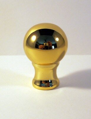 Lamp Finial, Machined Metal Lamp Finial **BALL DESIGN** Polished Brass finish