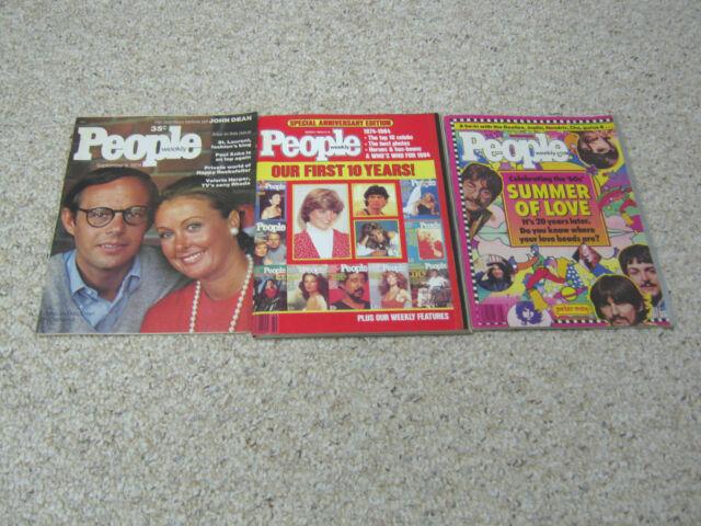 People magazine lot (3), September 9, 1974; March 5, 1984; June 22, 1987 Beatles