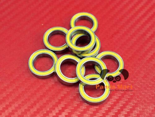 10 Stück 6701-2RS 12x18x4 mm Gelb Gummi Verpackt Wälzkörper Laufwerke 12 18 4