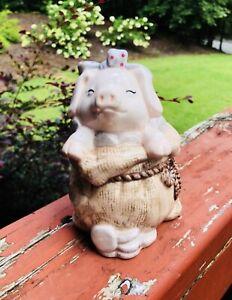 Vintage-Pig-in-a-Sack-Piggy-Bank-6-034-x-3-5-034