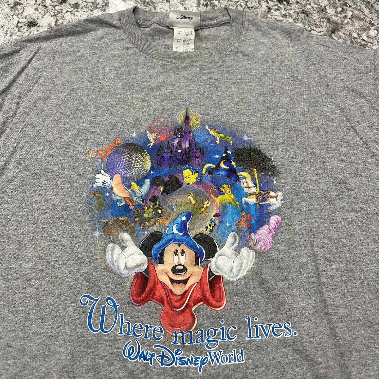 Vintage 1990's Walt Disney World Where Magic Lives T-Shirt Size XL