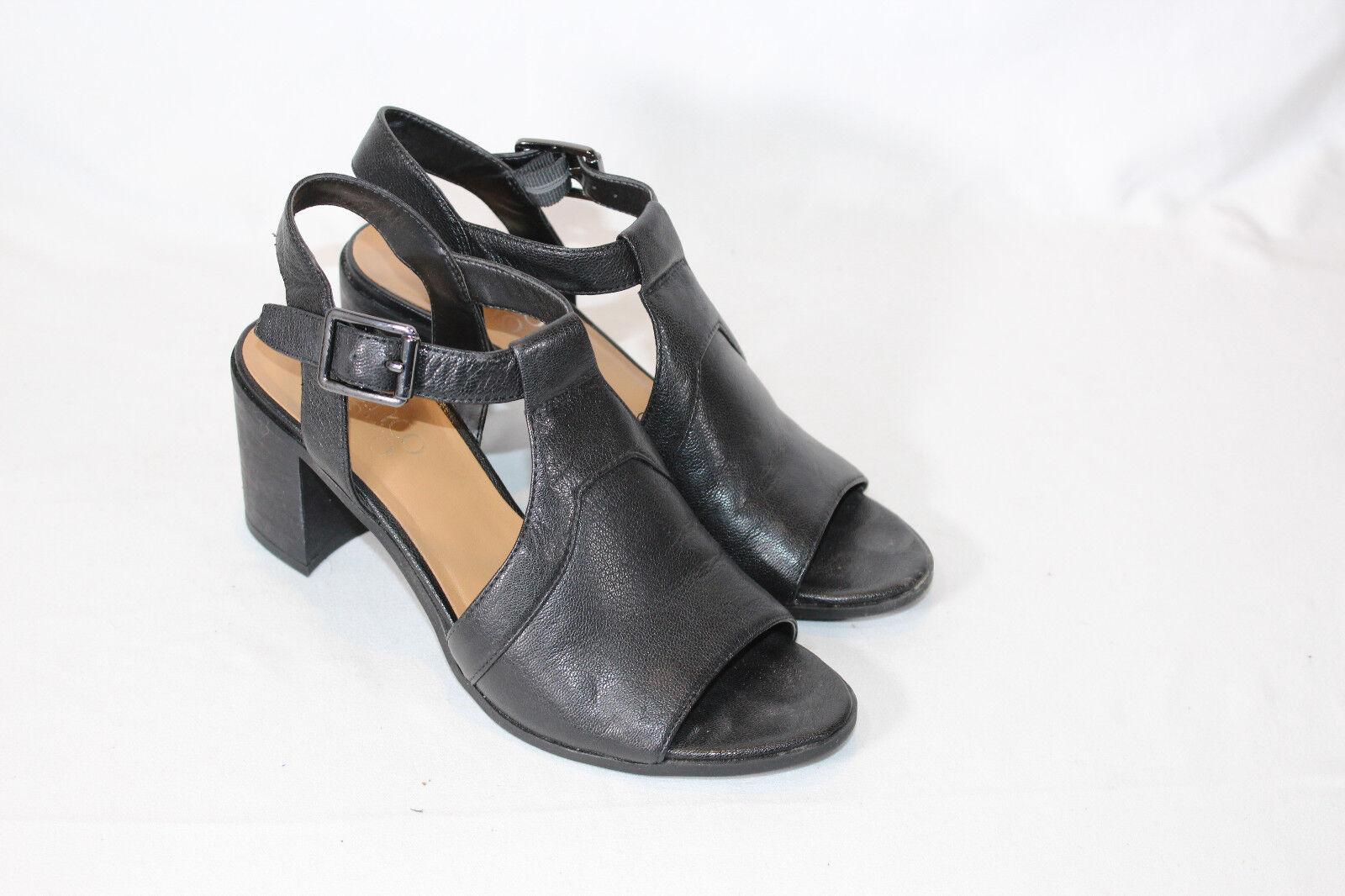 Franco Sarto T-Strap Sandals Ankle Strap - Heron 6 medium black