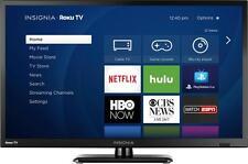 """Insignia- 24"""" Class (23.6"""" Diag.) - LED - 720p - Smart - HDTV Roku TV - Black"""