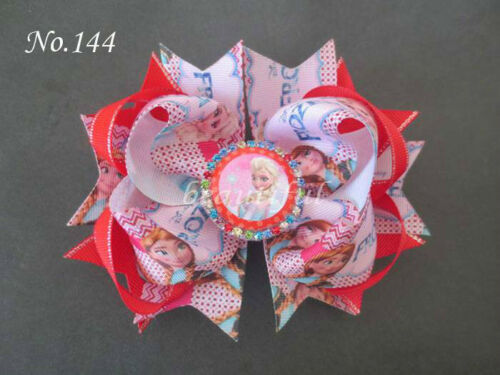 50 BLESSING Good Girl Boutique 5.5 Inch Cartoon Romantic Hair Bow Clip 190 No.