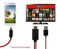 Mhl Micro Usb 11pin To Hdmi Hdtv Cable Adapter Samsung Galaxy S3 S4 Note 2 3 Lot