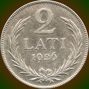 1926-Latvia-2-Lati-Silver-Coin-10-Grams-835-Silver