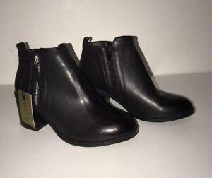 Miso Ladies Black Ankle Boots Size 4/37