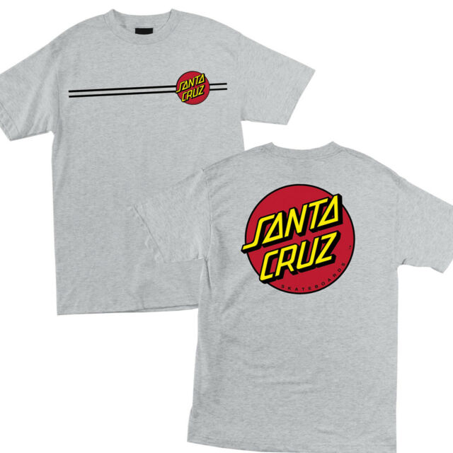 Santa Cruz CLASSIC DOT White Multicolor Screenprint Fitted S//S Junior/'s T-Shirt