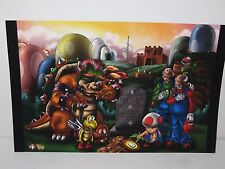 The Death Of Princess Peach Print Deviant Art by Wil Woods/ Tyrine Carver Mar