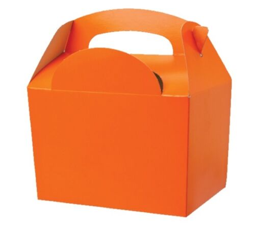 100 Childrens Orange Gift Boxes Birthday Party Snack Lunch Meal Food Bag Box