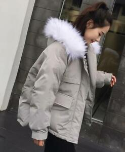 fausse à Veste F840 coton en manteau fourrure capuche matelassée rembourrée femmes en pour wwCq4Sp