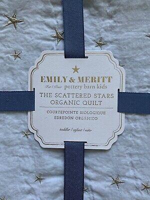 Pottery Barn Kids Emily Meritt Scattered Stars Blue Baby Toddler Bedding Quilt Ebay