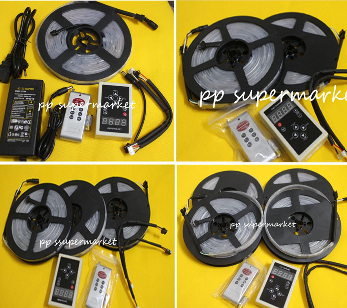 5M-20M 5050 RGB Dream Farbe 6803 IC LED Strip Light 133 Change RF Remote NEW
