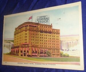 RP2357-Vtg-1946-PostCard-General-Brock-Hotel-Niagara-Falls-ON-Anne-Denison