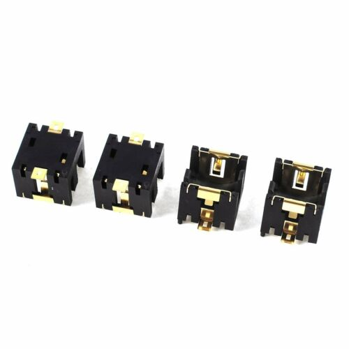 H3 4 Stueck Schwarzer Kunststoff Knopf Knopfzellen Sockel Halter fuer 2 x AG13//