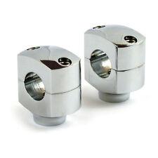 """Riser Domed 1 Paar Lenkerhalter 1 1/4"""" Chrom f. Harley - Davidson Softail Shovel"""