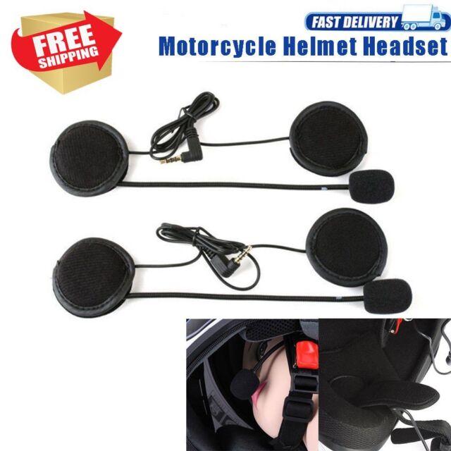 V4 V6 Wired Motorcycle Bluetooth Helmet Headset Intercom Speaker interphone ES