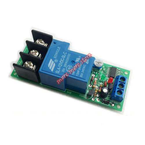 High Power 30A Trigger Delay Timer Switch ON OFF DC12V 24V Time Relay PLC Module
