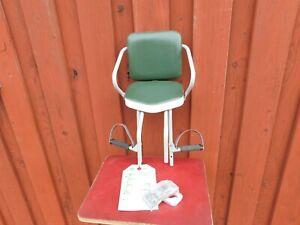 Kindersitz-Hu-Go-60er-70er-Jahre-NOS-unbenutz-Tuev-Oldtimer-Fahrrad-Vintage-gruen