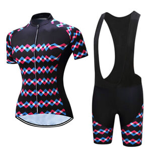 Womens-Cycling-Jersey-Padded-Bib-Shorts-Kit-Ladies-Bike-Cycle-Clothing-Set-S-5XL