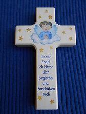 Kinderkreuz Holzkreuz Taufkreuz Wandkreuz Geschenk Kinderzimmer f. Junge 15x9 cm