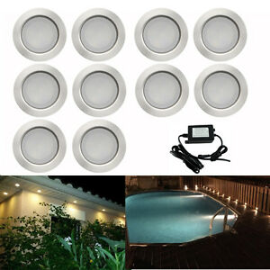 10X-45mm-IP67-LED-Spot-Depression-Lampe-Jardin-Cour-Lumiere-Eclairage-Encastre