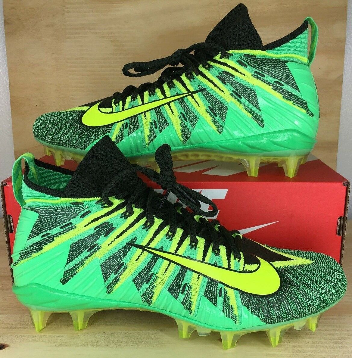Nike Alpha Menace Elite Football Cleats Green Volt Black 871519-337 SZ 10.5