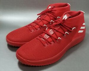 c1168218b3c NEW Adidas Dame 4 Lillard YKWTII Scarlet Red Mens Sz 19 or 20 ...