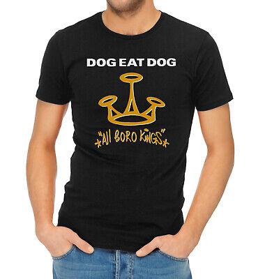 New DOG EAT DOG ALL BORO KINGS Logo Long Sleeve Black T-Shirt Size S to 3XL