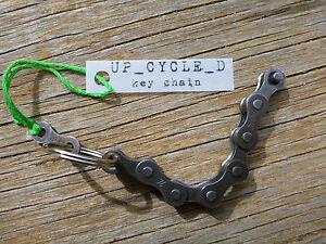 COOL-METAL-BIKE-KEY-RING-CHAIN-25mm-split-key-ring-VIntage-Fixie-Cycling-Gift