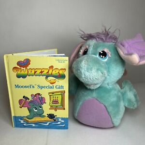 Disney Wuzzles 1984 Moosel Vintage Plush Soft Toy & Book #2 By Hasbro Retro RARE