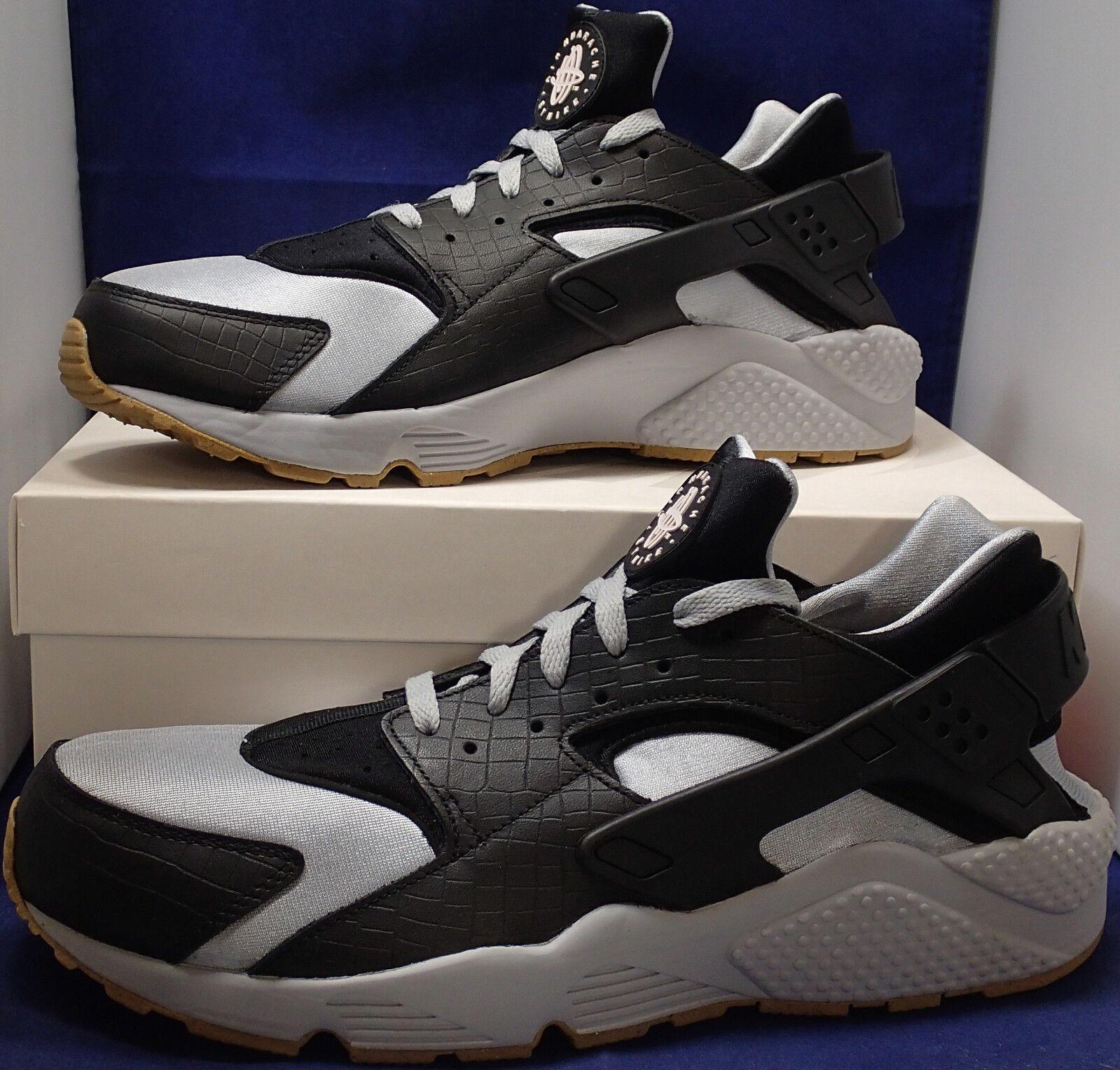 Nike Air Huarache Run iD Croc Grey Black Light Gum Brown Price reduction