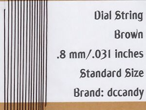 Radio-Dial-Cord-24-Ft-BRAIDED-Nylon-String-8mm-BROWN-for-Vintage-Tuner-031
