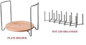 ikea variera cocinero tapa de olla organizador plato titular ajustable como ebay. Black Bedroom Furniture Sets. Home Design Ideas